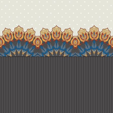 Abstract background. Two simple background and border. Oriental pattern and decorative items. Ample opportunities for use. Easily edit the colors.