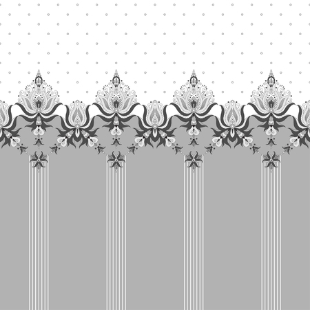 Abstract background. Two simple background and border. Oriental pattern with  stripes and decorative items. Ample opportunities for use. Easily edit the colors.