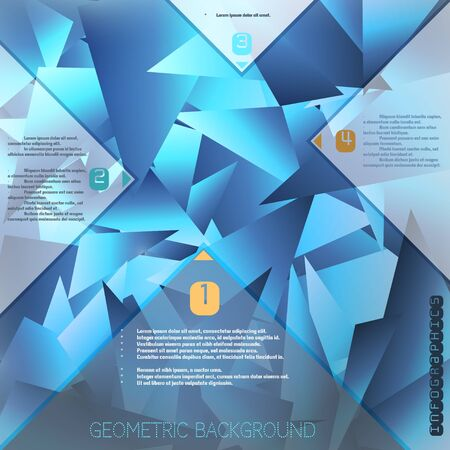 Abstract polygonal vector background with elements of infographics.