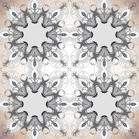 Seamless vector background. Vintage floral oriental pattern. Easy to change colors.