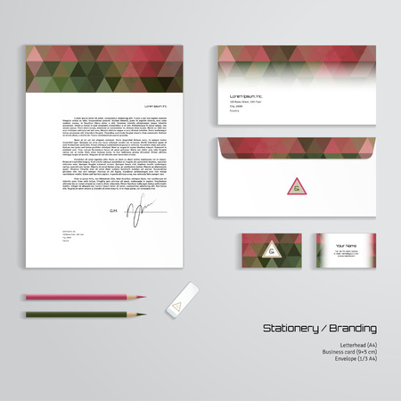 Vector identity templates multicolored geometric pattern vector corporate identity templates multicolored geometric pattern letterhead envelope business card reheart Choice Image