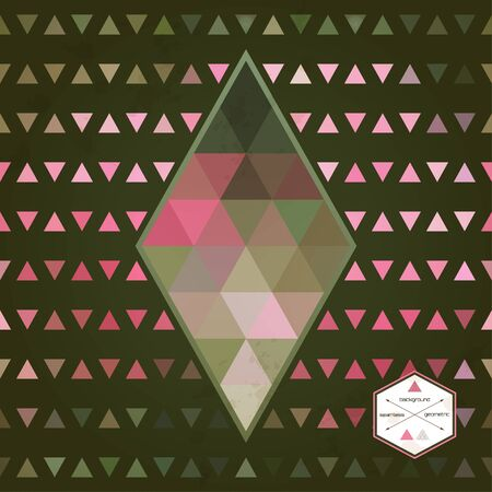 Abstract vector seamless background. Multicolored triangles and stains. A rhomb can be used as a design element. Illustration