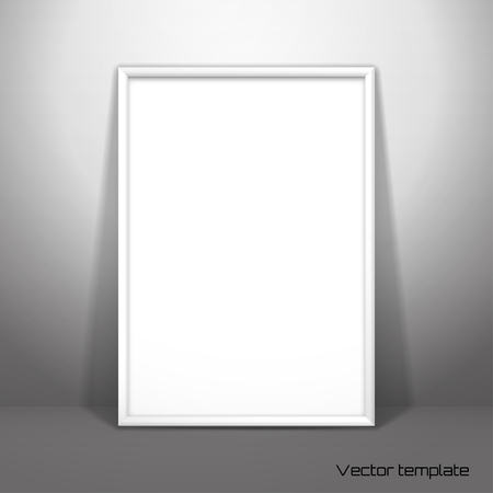 Vector Template Picture Frame Design A White Sheet A4 Of