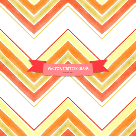 Vector seamless background. Pattern with watercolor zigzag. Hand drawing. Illustration