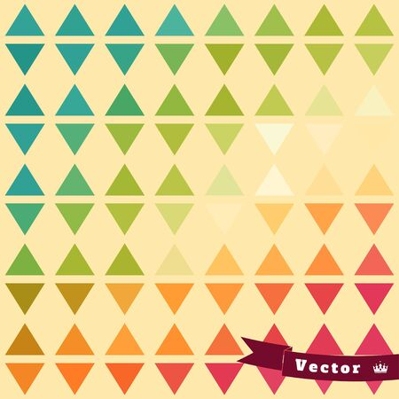 Abstract geometric seamless vector background in vintage style. Multicolored triangles.