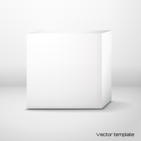 empty warehouse: Vector cubic box template.
