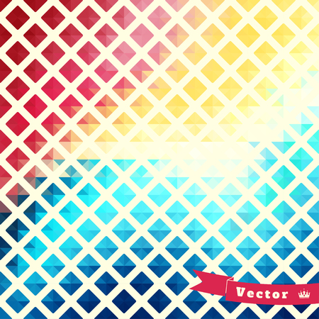 rhomb: Abstract geometric vector background in vintage style. Multicolored rhomb.
