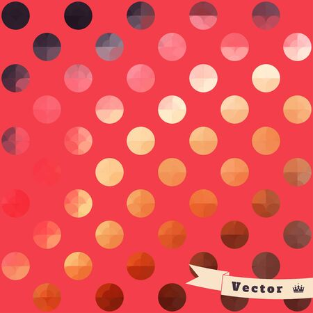 Abstract geometric seamless vector background. Multicolored circles. Illustration