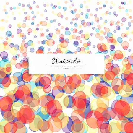 Vector background. Watercolor transparent blots. Hand drawing. Illustration