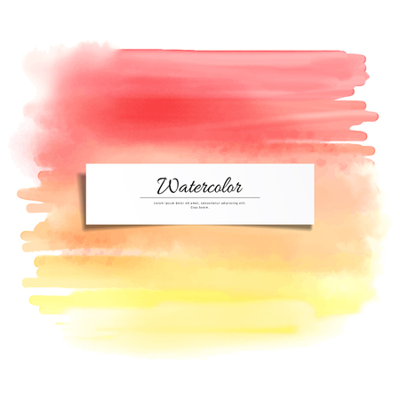 Abstract vector watercolor stain blurring background. Hand drawing.