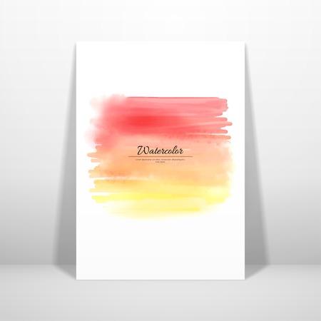 Watercolor stain blurring pattern illustration. Çizim