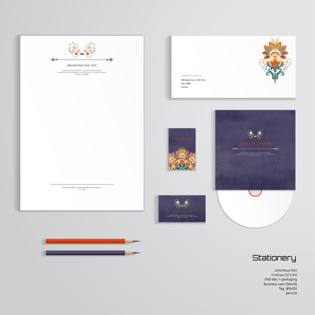 Vector Identity Templates Letterhead Envelope Business Card