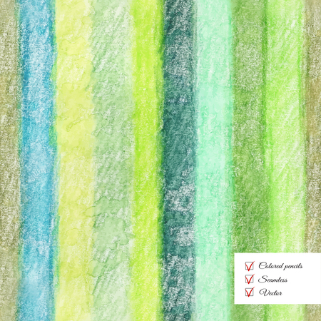 Vector seamless colored pencil striped background. Hand drawing.