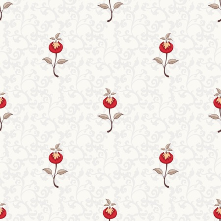 Seamless vector floral background. The motives of the paintings of ancient Indian fabrics. Tree of Life collection. Stock Illustratie