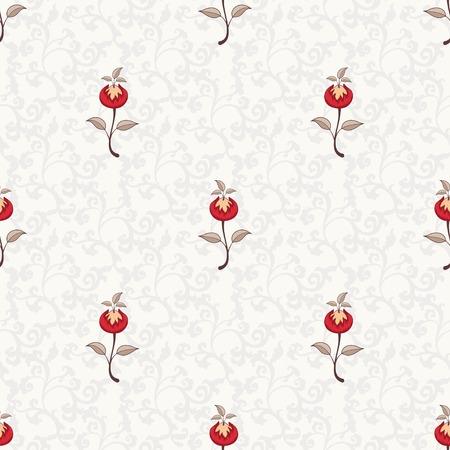 Sfondo floreale vettoriale senza soluzione di continuità. I motivi dei dipinti di antichi tessuti indiani. Collezione Tree of Life. Archivio Fotografico - 95060168