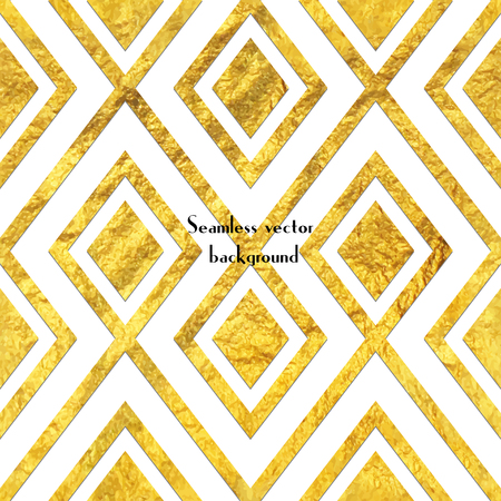 Geometric golden foil seamless pattern background. Illustration