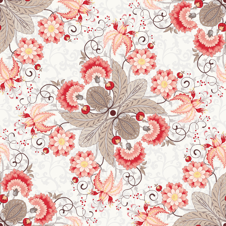 Seamless vector floral background.