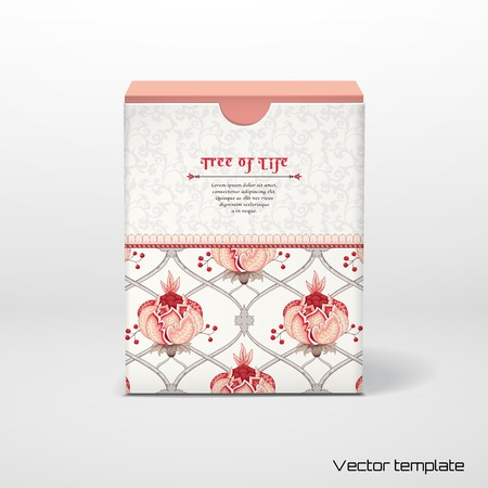 Vector illustration. Box with insertion for your text. Tree of Life collection.