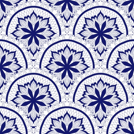 Round floral pattern design illustration