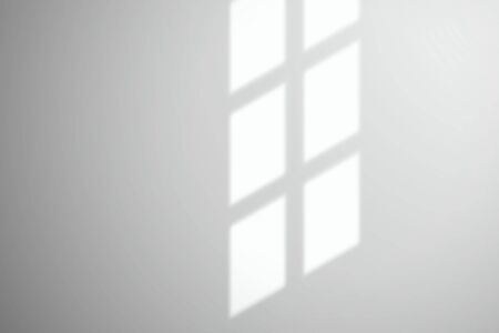 Light from a window on a white wall or surface. Realistic vector template for design Illustration
