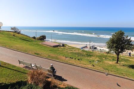 yam israel: Bat-Yam City beach Panoramic view  Israel