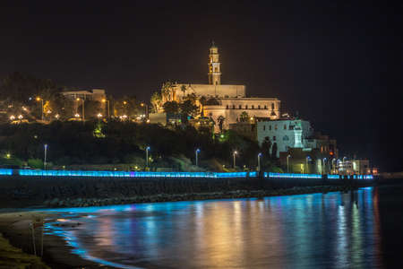 Old Jaffa at night   Israel photo
