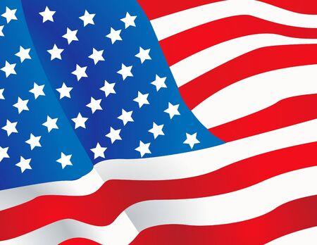 spangled: Vector illustration United States flag