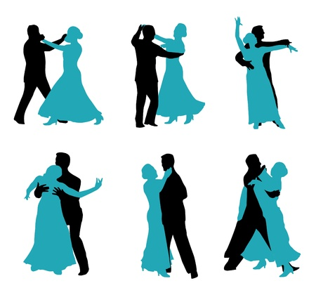 dancers isolated on white background Illustration