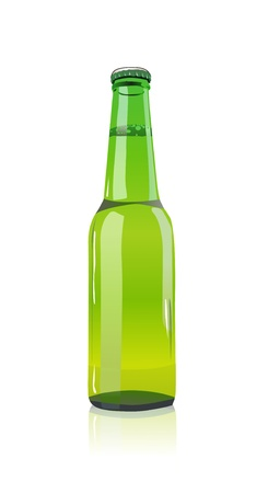 green beer: Beer bottle