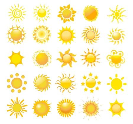 set of sun vector  Stock Vector - 10220011
