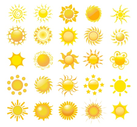 set of sun vector Stock Vector - 10220011