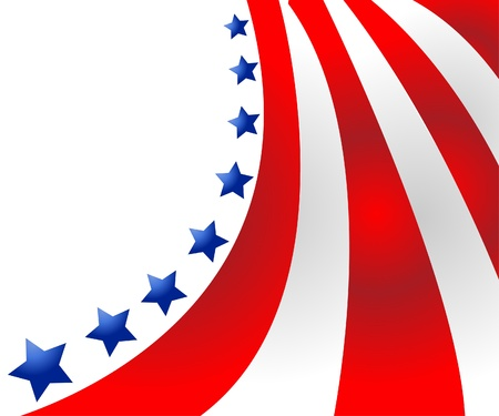 president of the usa: USA flag in style vector