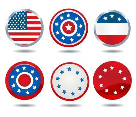 patriotic buttons Vector