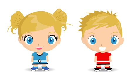 cute cartoon boy: happy kids