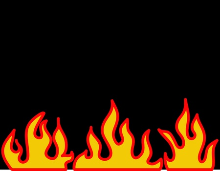 Red burning flame pattern. Vector. photo