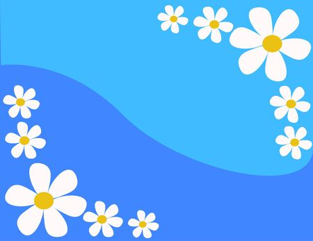 styled: background with flowers in vector