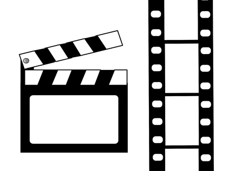 Clapboard and film vector Stock Photo - 10564706