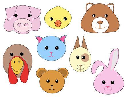 Vector set - stylized domestic animals Stock Photo - 10564810