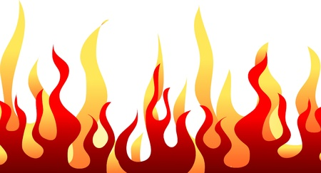 Red burning flame pattern.  Vector