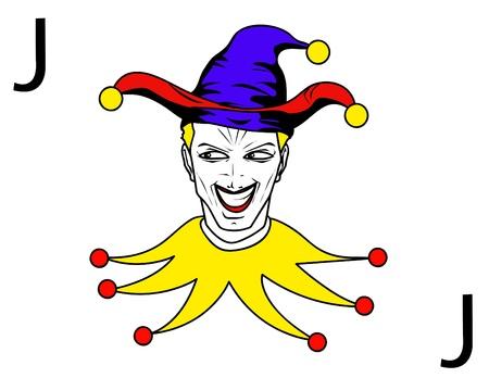 joker playing card Stock Vector - 10799943