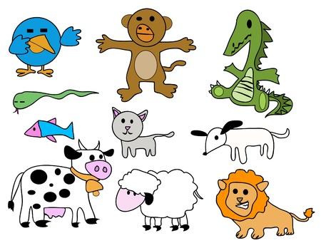 Vector set - stylized animals Stock Vector - 10799948