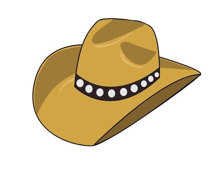 big hat: Illustration of a cowboy hat