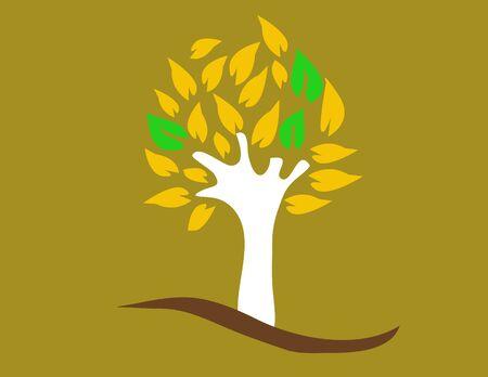 Color tree - vector illustration Illustration