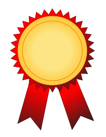 ilustración vectorial de medalla de oro Ilustración de vector