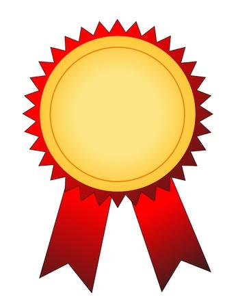 primer premio: ilustraci�n vectorial de medalla de oro