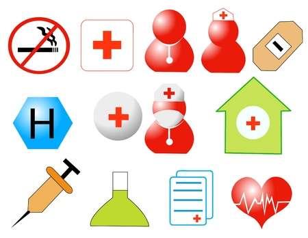 Medicine icons vector illustration Stock Vector - 10799939