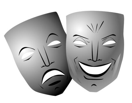 comedy and tragedy: Comedy and tragedy masks