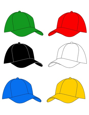 baseball cap: hat vector illustration Illustration