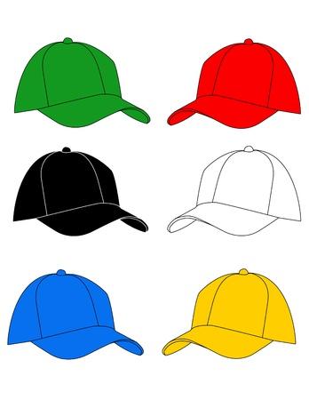 casquetes: ilustraci�n vectorial de sombrero Vectores