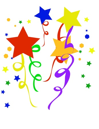konfeti: Abstract holiday background. Vector illustration confetti   Çizim
